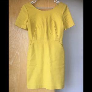 Mustard yellow sun dress, size 2